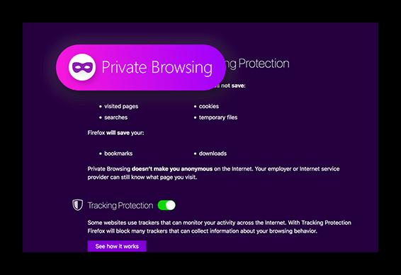 Картинка Приватность Firefox