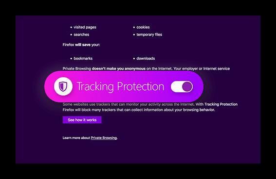 Изображение Защита от отслеживания в Firefox Quantum