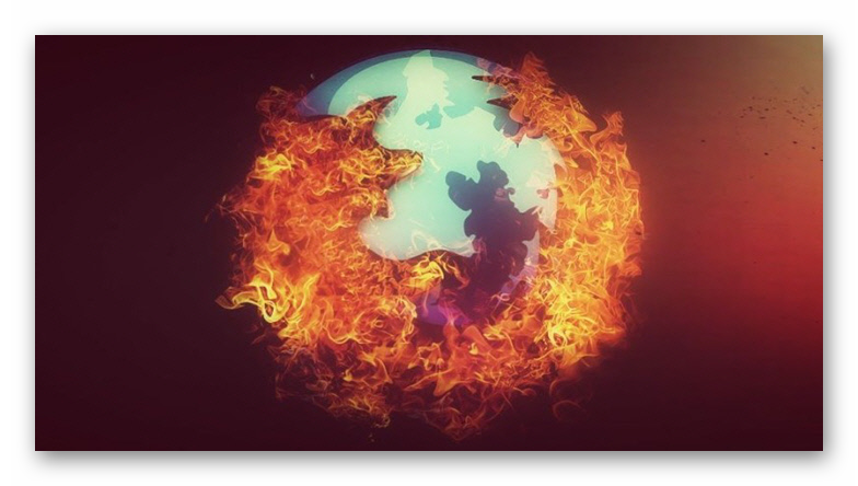 Стильный логотип Firefox