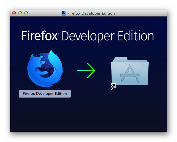 Установка Firefox Developer Edition для Mac OS