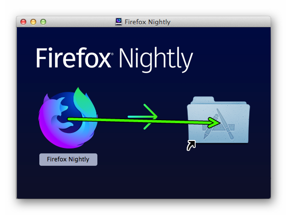 Установка Firefox Nightly для Mac OS