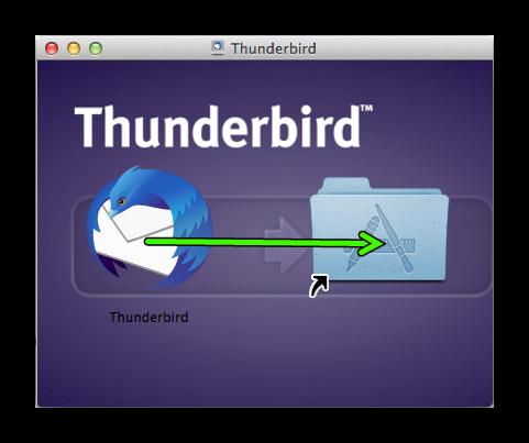 Установка Mozilla Thunderbird для Mac OS
