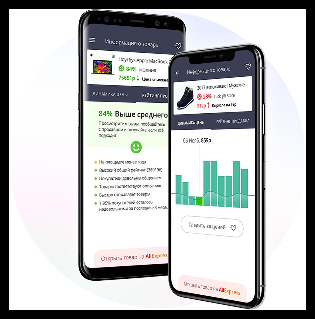 Картинка Расширение AliRadar для мобильных устройств