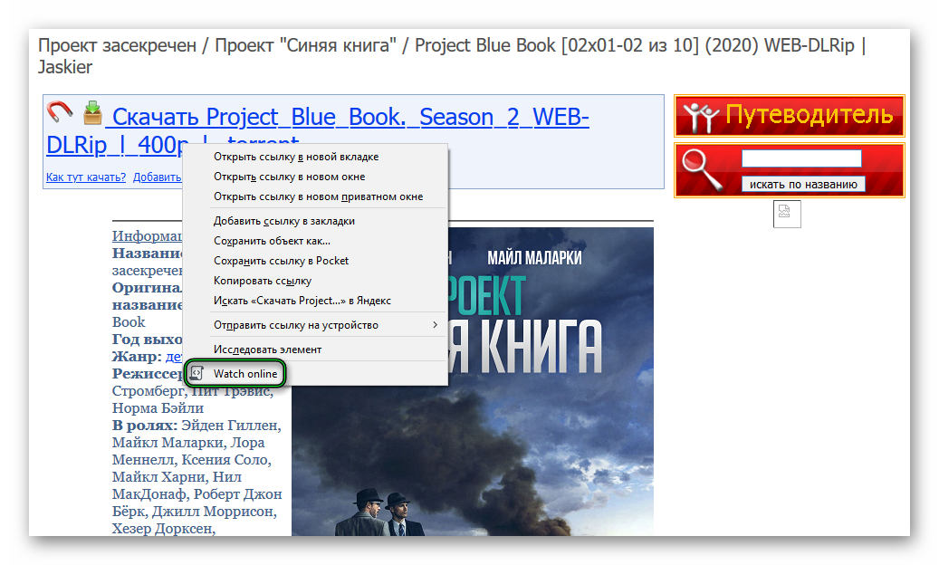 Запуск воспроизведения с помощью TS Magic Player для Mozilla Firefox